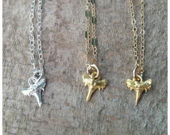 Dainty Shark Tooth Necklace - ocean jewelry, beach jewelry, gold layered necklace, minamalist necklace, aloha, hawaii, kauai