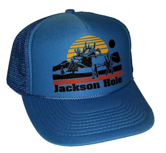 Jackson Hole Deer  Mesh Trucker Hat Cap