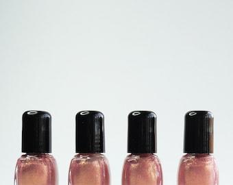 Pink Nail Polish Passion Pink rose gold glitter Vegan nails  free from harsh chemicals indie nail polish