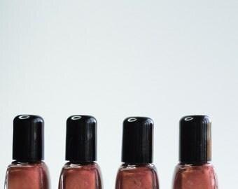 Nail Polish Tempest Copper gold glitter Vegan nails 3 free indie nail polish