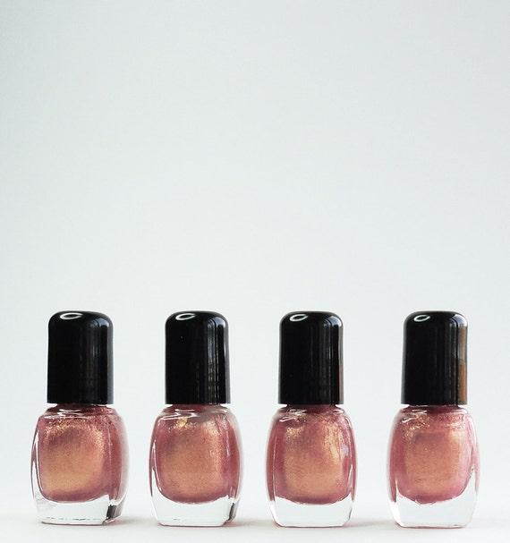 Passion Nail Polish: Nail Polish Passion Pink Rose Gold Glitter Vegan Nails Free