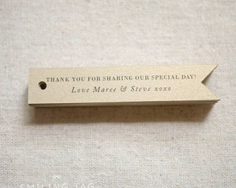 Gold Glitter Personalized Wedding Favor Tags - Thank you - Bridal Shower - Party Favor Tag- Set of 25 (Item code: J485)