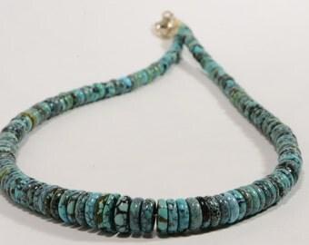 Choker Turquoise Necklace Genuine Turquoise Necklace Birthstone Jewelry Turquoise Jewellry