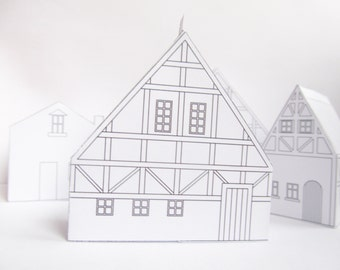 Diy Paper Houses Ready Design Templates To Print Cute