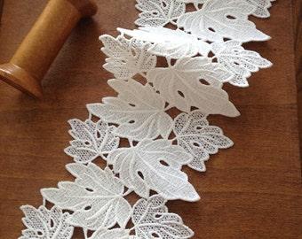 ivory lace trim,bridal lace, crochet trim lace,wedding trim lace
