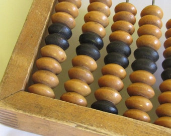 Vintage wooden Abacus, 1960s, school abacus, all wood abacus,  Home decor