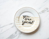 You Are Special - Hand Painted Vintage Porcelain Plate