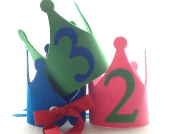 Felt Birthday Crown , Personalized Party Hat
