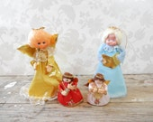 Vintage Christmas Angels collection, carollers, tree topper, shelf sitter, decoration, fswp