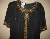 Stenay beaded silk dress- NEVER WORN- tags still attached size 8
