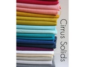 Organic Cotton Fabric Cirrus Solids - One YARD  BUNDLE -  from Cloud 9 Fabrics