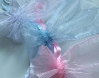 """12 pcs Organza bags, 4"""" x 6"""" organza bag , favor bag ,"""