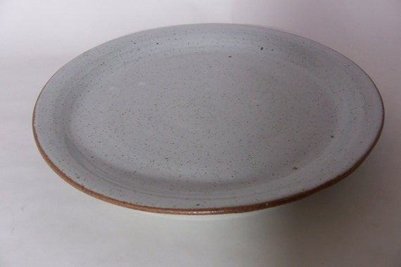Hand Thrown Dinner Plate With Raised Side By