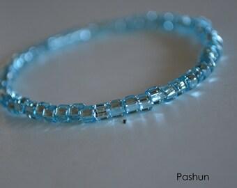 Yoga Stretch Bracelets ...  Shiny Blue (1356)