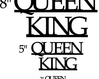 The Queen is always above the King.  King and Queen Hanging Wall Decor Signs Made of Steel in the Heartland