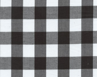 """60"""" Black 1"""" Gingham Check-By the Yard"""
