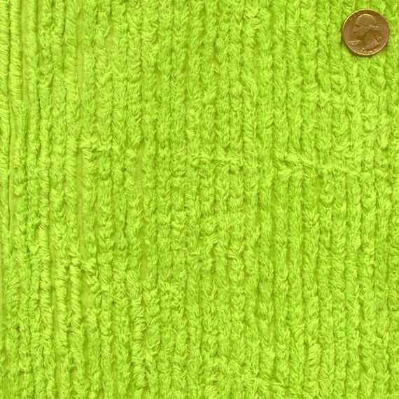 56 Wide Cotton Chenille Lime Green By The Yard