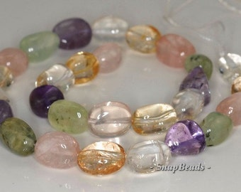 14x9-10x8mm Mix Quartz Gemstone Nugget Loose Beads 16 inch Full Strand (90144128-B38-577)