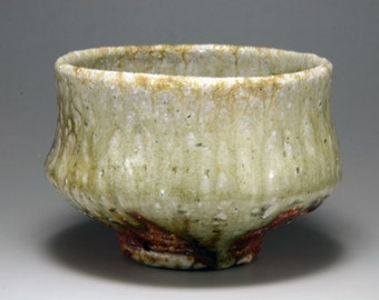 Shigaraki, anagama, ten-day anagama wood firing, with natural ash deposits tea bowl. chawan-71