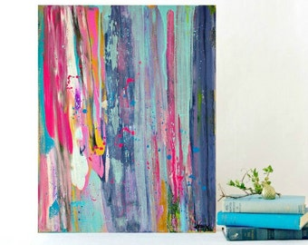 Abstract Painting Modern Painting Original colorful Abstract Art in Acrylic on Canvas 28x22 inches