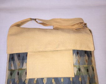 One-of-a-Kind Messenger Bag - Yellow, Tan, Brown, Blue, Green