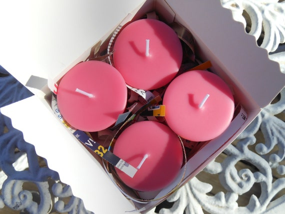 Rose Soy Replacement Votive Candles 4 Pack Gift Box