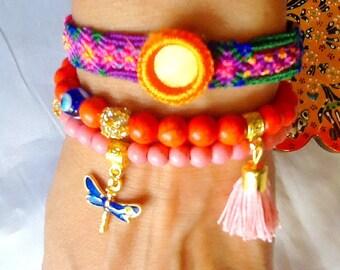 SALE------GYPSY SOUL bracelets -- bohemian bracelets - ethnic jewelry -middle eastern jewelry - gypsy jewelry
