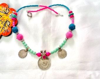 SALE----- KUCHI DIVA Necklace- Tribal Kuchi Necklace- Bohemian Necklace-Belly Dance necklace-Gypsy Necklace
