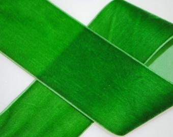 Green Velvet Trim 1.5 inches wide - 5 Yards