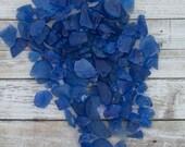 Sea Glass - Beach Decor - Nautical Decor - Beach Glass in Blue - 2 lb Bulk Man-Made Blue Sea Glass - Beach Wedding Decor-Bulk Craft Supplies