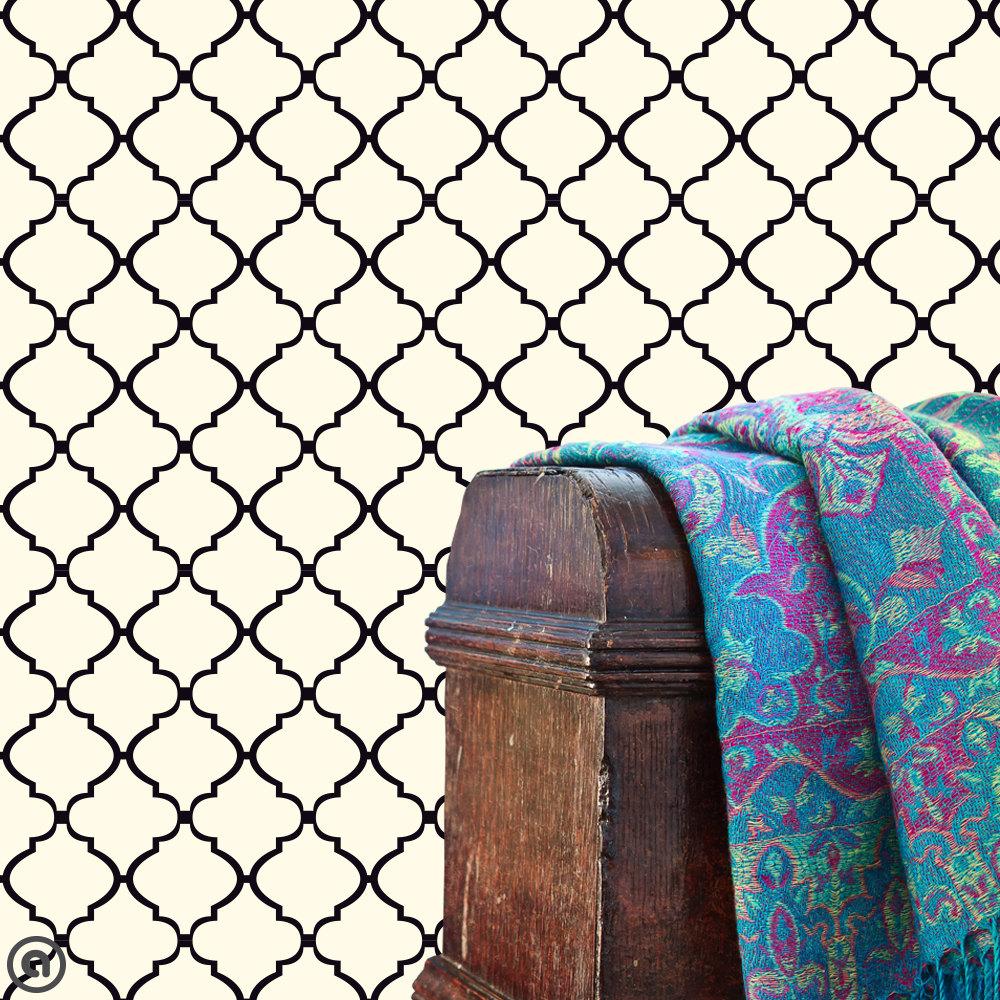 Lattice Wallpaper: Removable Wallpaper Moroccan Lattice Peel & Stick Self