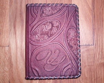 PASSPORT COVER HOLDER -  Personalized Leather Travel Gift Art Craft Handmade #7