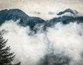 Mountain Top, Clouds, Landscape 12 x 18 Fine Art Photography Print
