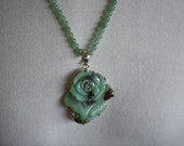 Beautiful Jade and Aventurine beaded necklace
