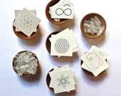SALE--- TEMPORARY TATTOOS --- Sacred Geometry Set --- Flower of life, Seed of life, Metatron's Cube, Infinity, Phi--- stocking stuffer