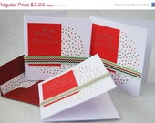 Pack of Three Small Merry Christmas Cards Handmade Cards