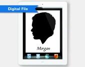Custom Digital Silhouette (Print at home)