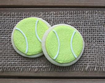 Tennis Cookies / Tennis Ball Cookies / Tennis Party / Tennis Favor / Tennis Birthday / Tennis / Tennis Ball