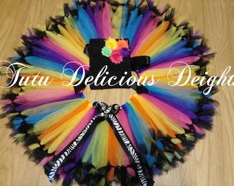 Neon Petti Tutu Dress ~ Kids Birthday Tutus~ Two Piece Tutu~ Pageant Dress~ Kids Photo Props