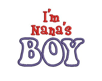 Nana's Boy Embroidery Design, Applique Font, (540) Instant Download