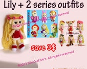 Save for Lily Promotion2: Changeable Clothes Crochet Doll and 13 styles Outfits Pattern ( PDF only )
