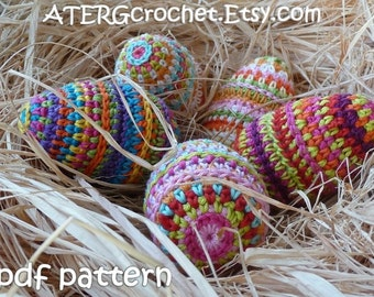 SALE - Crochet pattern EASTER EGG by ATERGcrochet