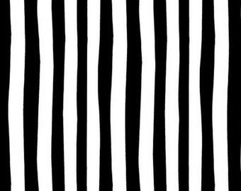Kaufman - Celebrate Seuss - B/W Novelty Stripe