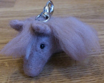 Needle felted horse head christmas gift under 25 car window decoration