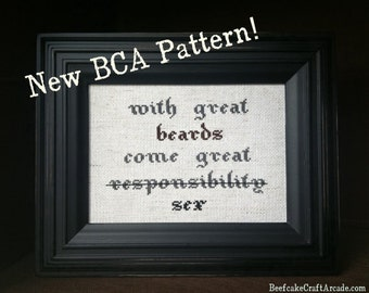 BRAND NEW PATTERN - Great Beards - cross stitch