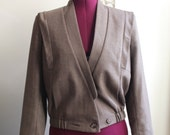 SALE 1980s Herringbone Tweed Blazer