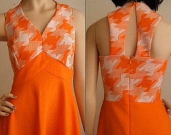 Vintage Sorbet Halter Top Maxi Dress - 1970's
