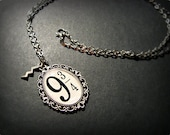 Platform 9 3/4 Harry Potter Necklace Pendant Antique Silver Lightening Bolt Charm