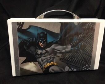 Upcycled Batman clutch