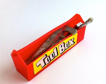 Miniature Toy Tool Box in Plastic - Toy Collectible